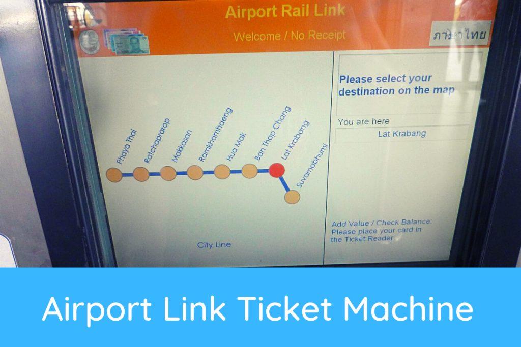 Airport Link Ticket Machine