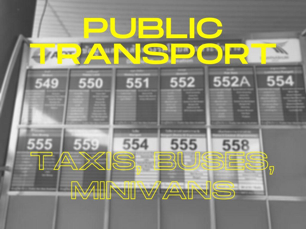 Bangkok Airport public transport